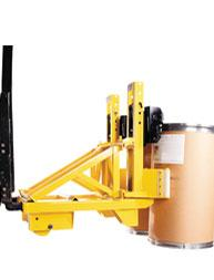 Quick-Claw Safety System For Locking Drum Handling Attachments To Lift Trucks