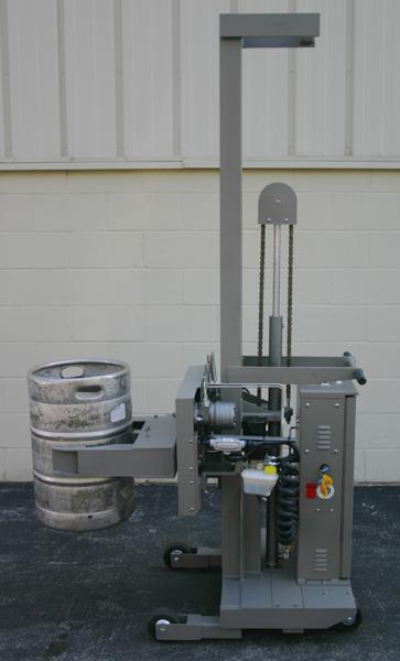 Handling Beer Kegs With 360 Degree Side Rotating Clamps